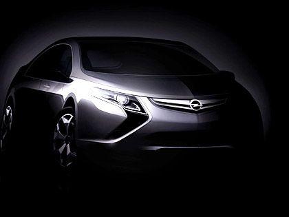 Zukunft im Dunkeln: Das Hybridauto Ampera soll für neuen Schwung bei Opel sorgen - ab 2011