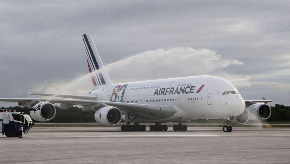 Sorgenkind deutscher Fondsanleger: Ein A380 von Air France.