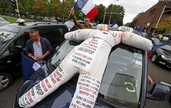 Taxifahrer aus ganz Europa demonstrierten im September in Brüssel gegen Uber
