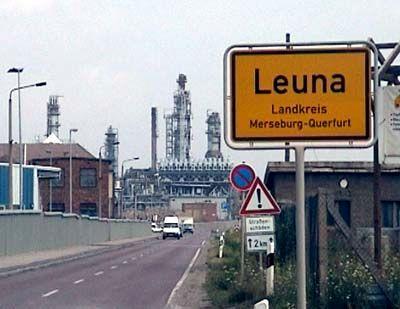 Teil des Total-Konzerns: Raffinerie in Leuna