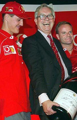 Schön war die Zeit: Chris Gent 2002 beim Team Ferrari, das von Vodafone gesponsert wird
