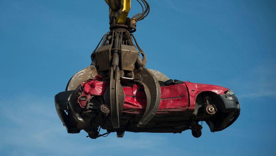 Schatz: Die Rohstoffe eines Schrottautos werden wertvoller