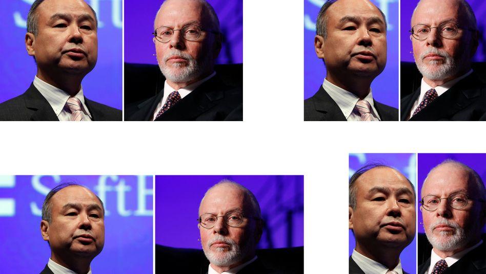 Elliott-Chef Paul Elliott Singer (re.): Milliardeninvestition in die Softbank Group - und erhöhter Druck auf Masayoshi Son (li.)