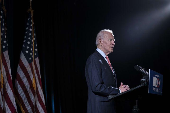Kandidat im Wahlkampfhotel: Joe Biden auf dem Parteitag der Demokraten.