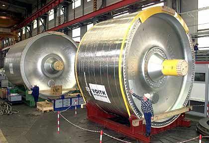 Glättzylinder für Papiermaschinen: Voith ist einer der drei größten Hersteller der Welt