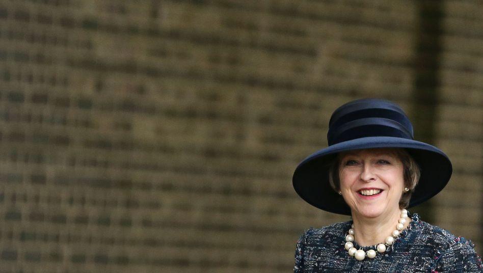 Die britische Premierministerin Theresa May in London
