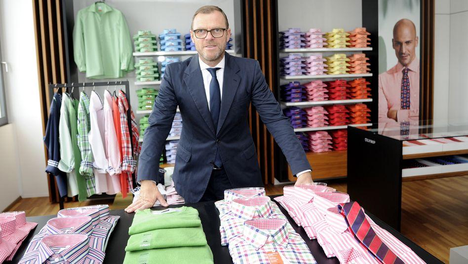 Siegertyp: Olymp ist einer der größten Hemdenfabrikanten Europas (Umsatz: 225 Millionen Euro). Mark Bezner führt das Unternehmen seit 2010 in dritter Generation.