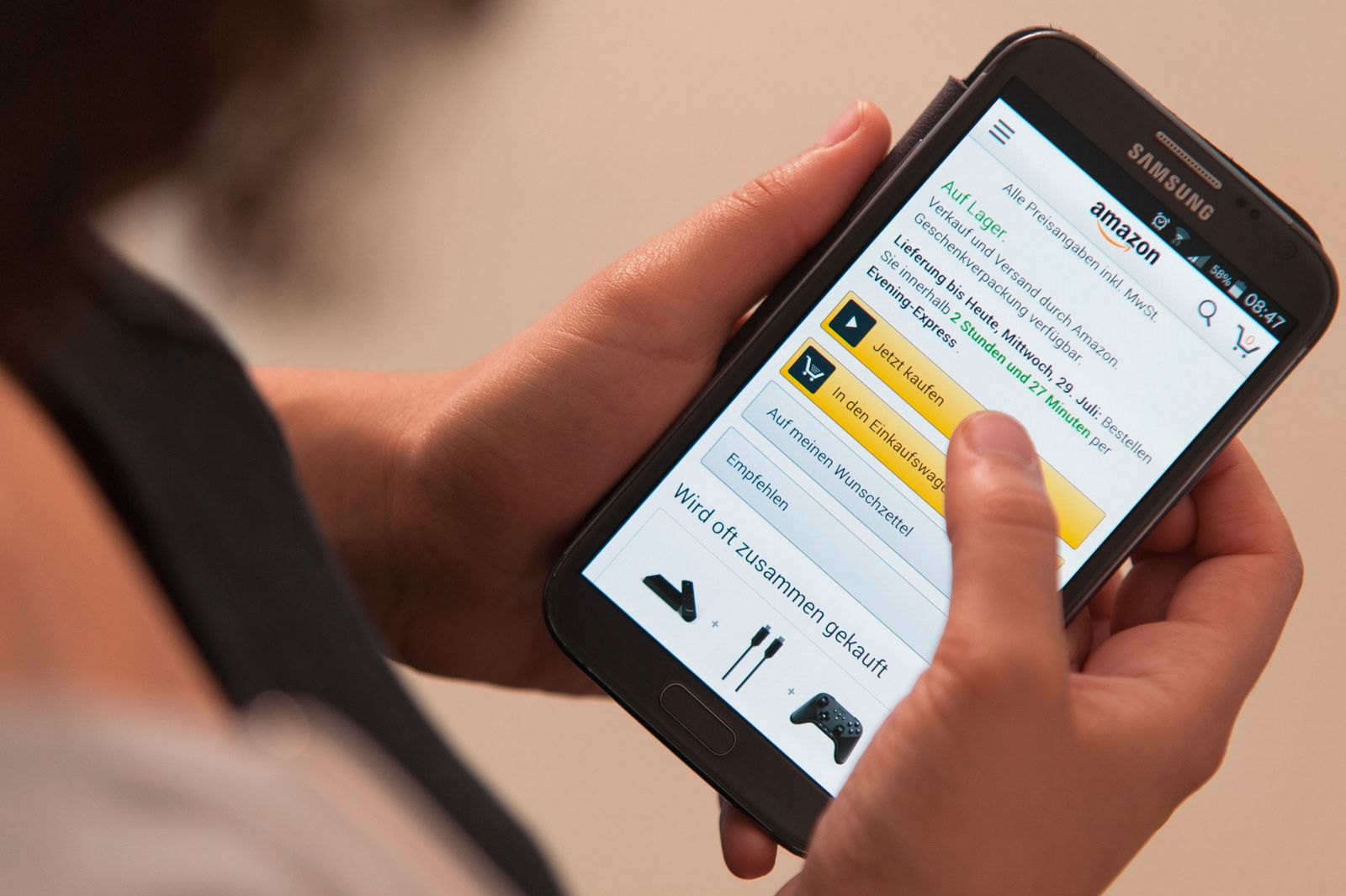 Amazon / Onlinekauf / Onlinehandel