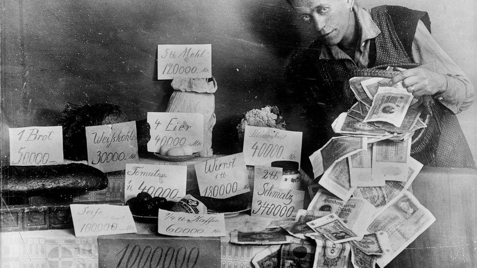 Ein Blumenkohl für 40.000 Mark: Hyperinflationäre Preise in der Weimarer Republik nach 1923 – droht nun eine neue Währungskrise?