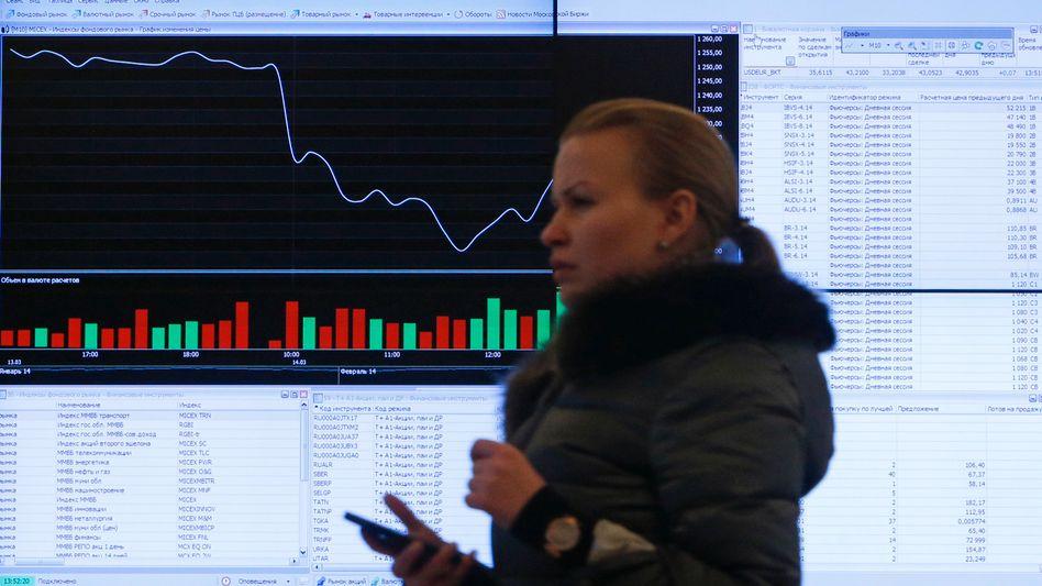 Börse Moskau: Abwärts im Strudel der politischen Ereignisse