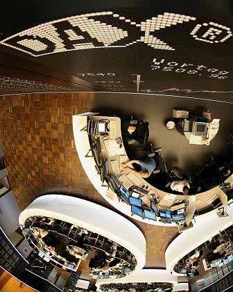 Leichte Erholung: Börse in Frankfurt