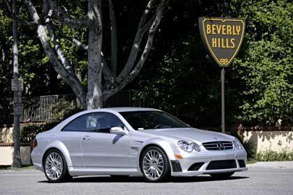 """LA-Feeling: Der Mercedes CLK 63 AMG """"Black Series"""" braucht vier Sekunden, um von 0 auf 100 km/h zu kommen"""