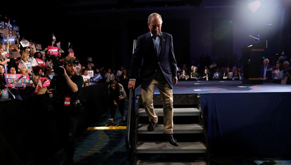 Michael Bloomberg tritt in Florida am Mittwoch von der Bühne