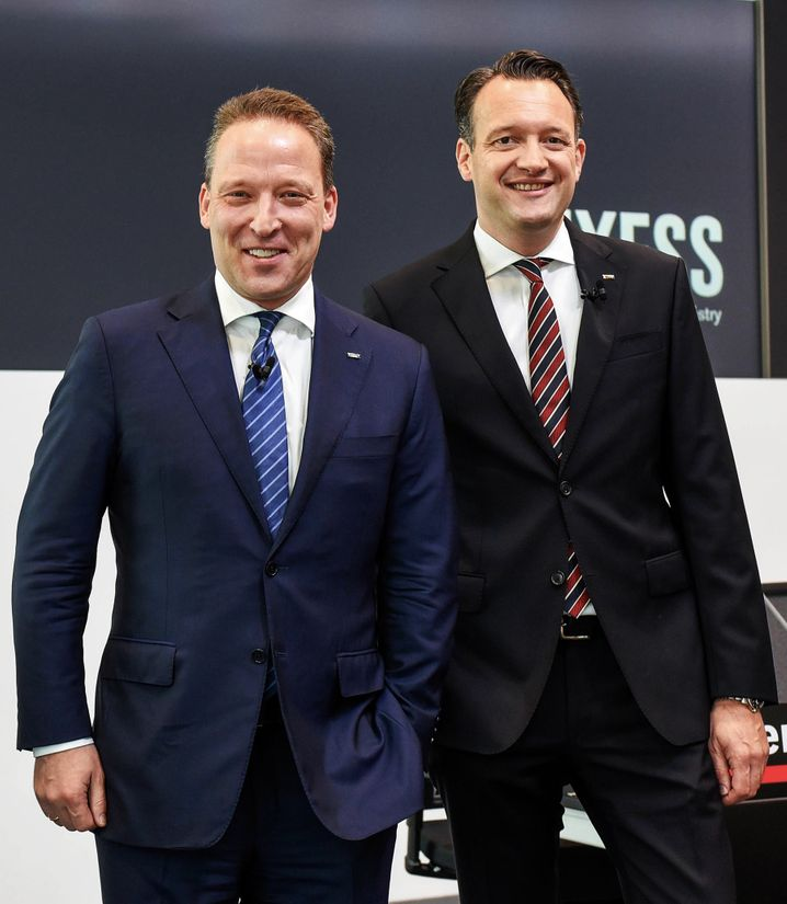 Starkes Duo: Lanxess-CEO Matthias Zachert (l.) und CFO Michael Pontzen halten engen Anlegerkontakt