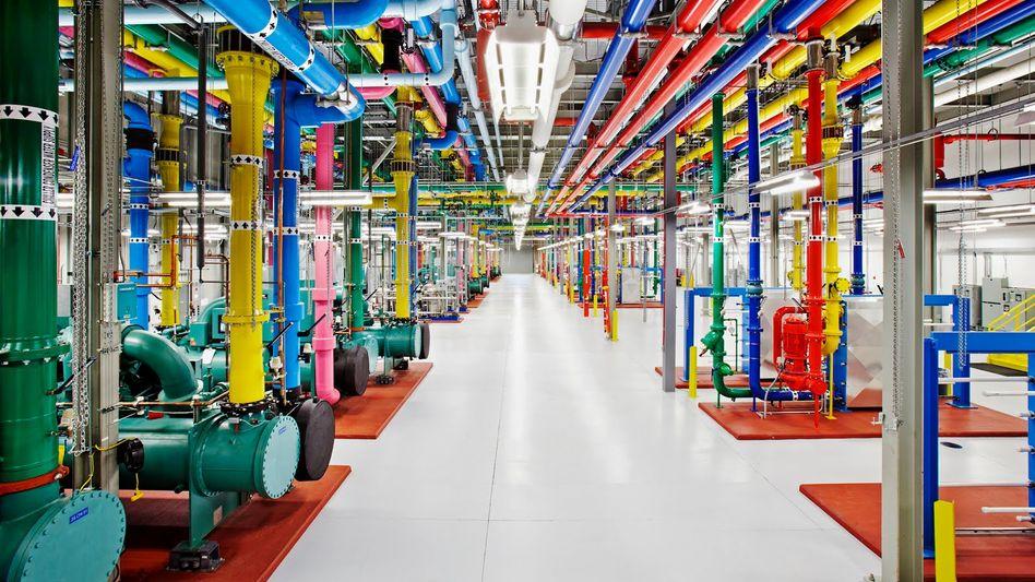 Haustechnik in Google-Datenzentrum in Douglas Country, US-Staat Georgia