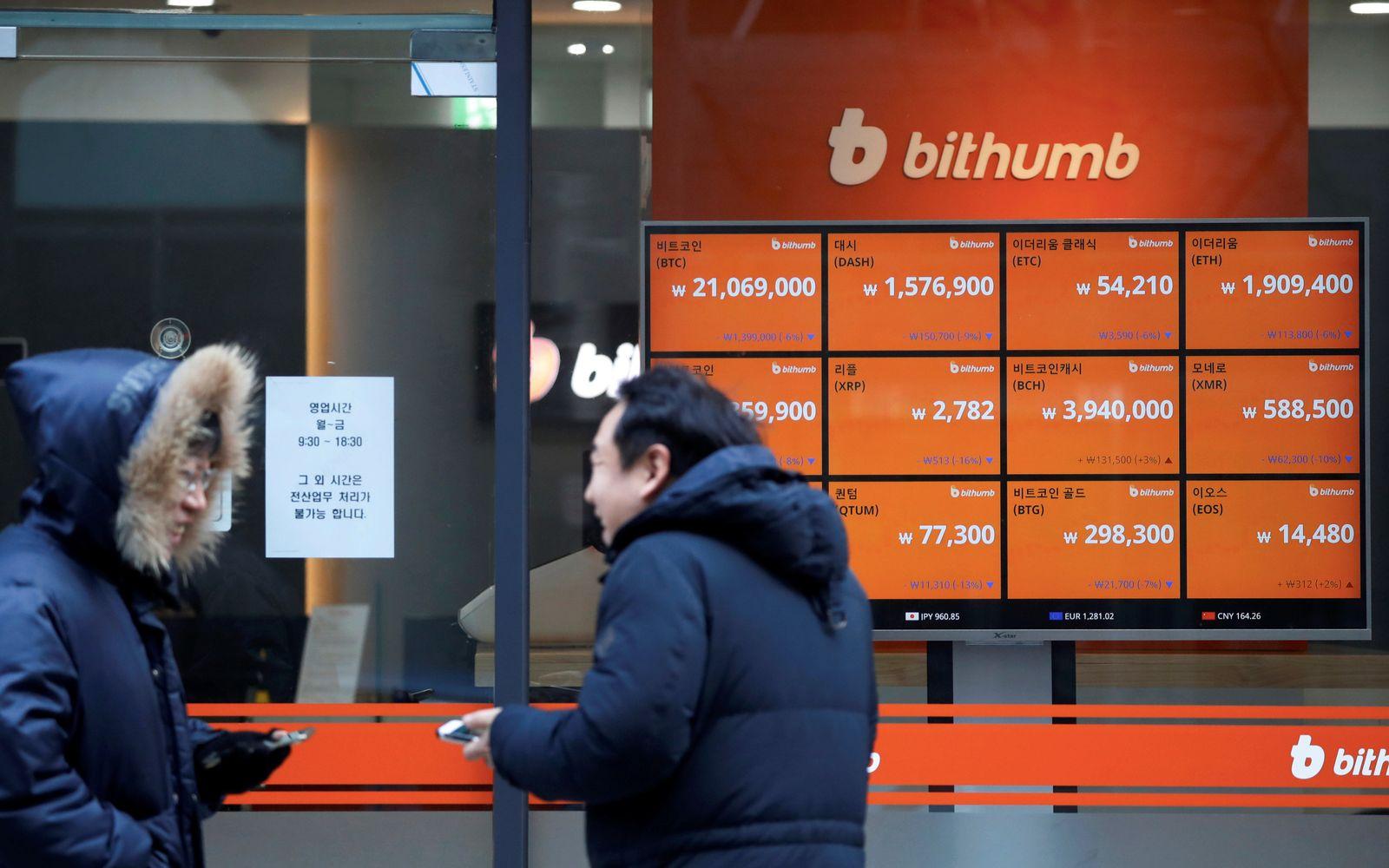 Südkoreas / Kryptowährung / Bitcoin / Börse