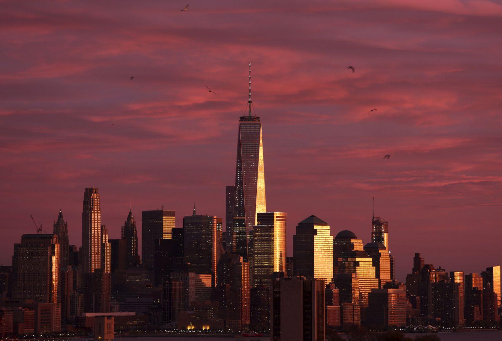 Lower Manhattan Skyline Wolkenkratzer