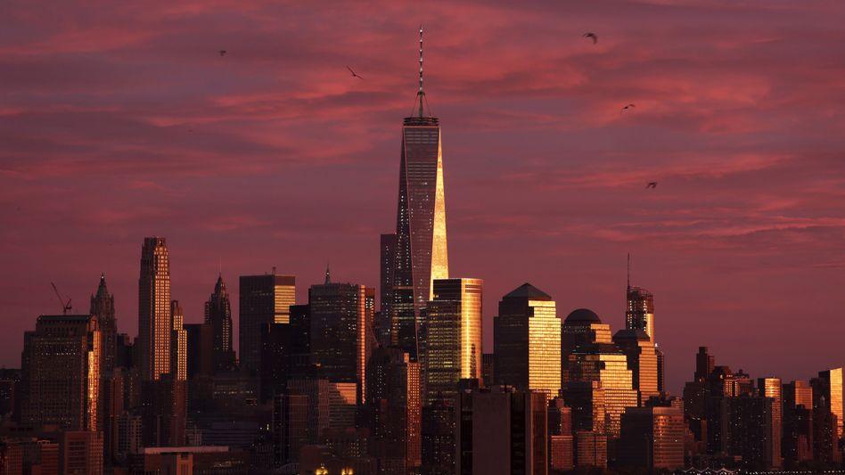 Skyline von Manhattan: Die Allianz spielt im Monopoly mit