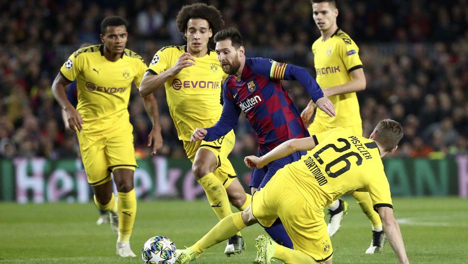 Champions-League-Begegnung von Barcelona und Dortmund: Derzeit sind die Live-Spiele nur bei Sky und DAZN zu sehen