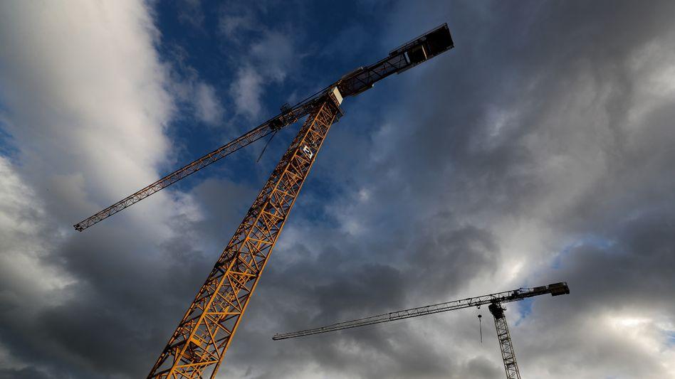"""""""Auftragsbestand historisch hoch"""": Die Bauindustrie ist bislang gut durch die Krise gekommen."""