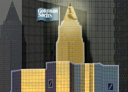 Mit Vorsprung an der Spitze: Deutsche Bank und Goldman Sachs wickelten im ersten Halbjahr 2002 insgesamt 47 deutschlandbezogene M&A-Transaktionen ab