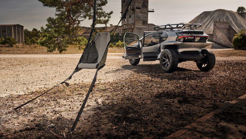 Audi-Prototyp AiTrail mit ausbaubaren Hängematten-Rücksitzen: Innovative Ideen hat vor allem der eigene Arbeitgeber, meinen die befragten Manager