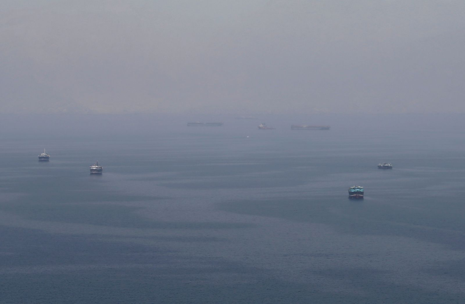 Frachtschiffe/ Oman/ Straße von Hormus