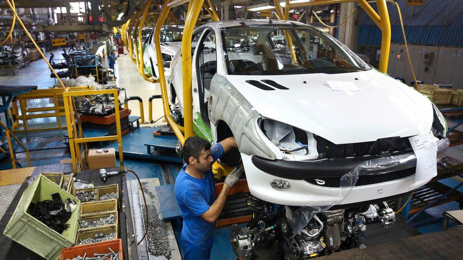 Peugeot 206 - im Iran wird der Kleinwagen in der Fabrik des Joint-Venture-Partners Iran Khodro noch produziert - wie das in Zukunft aussieht, ist offen