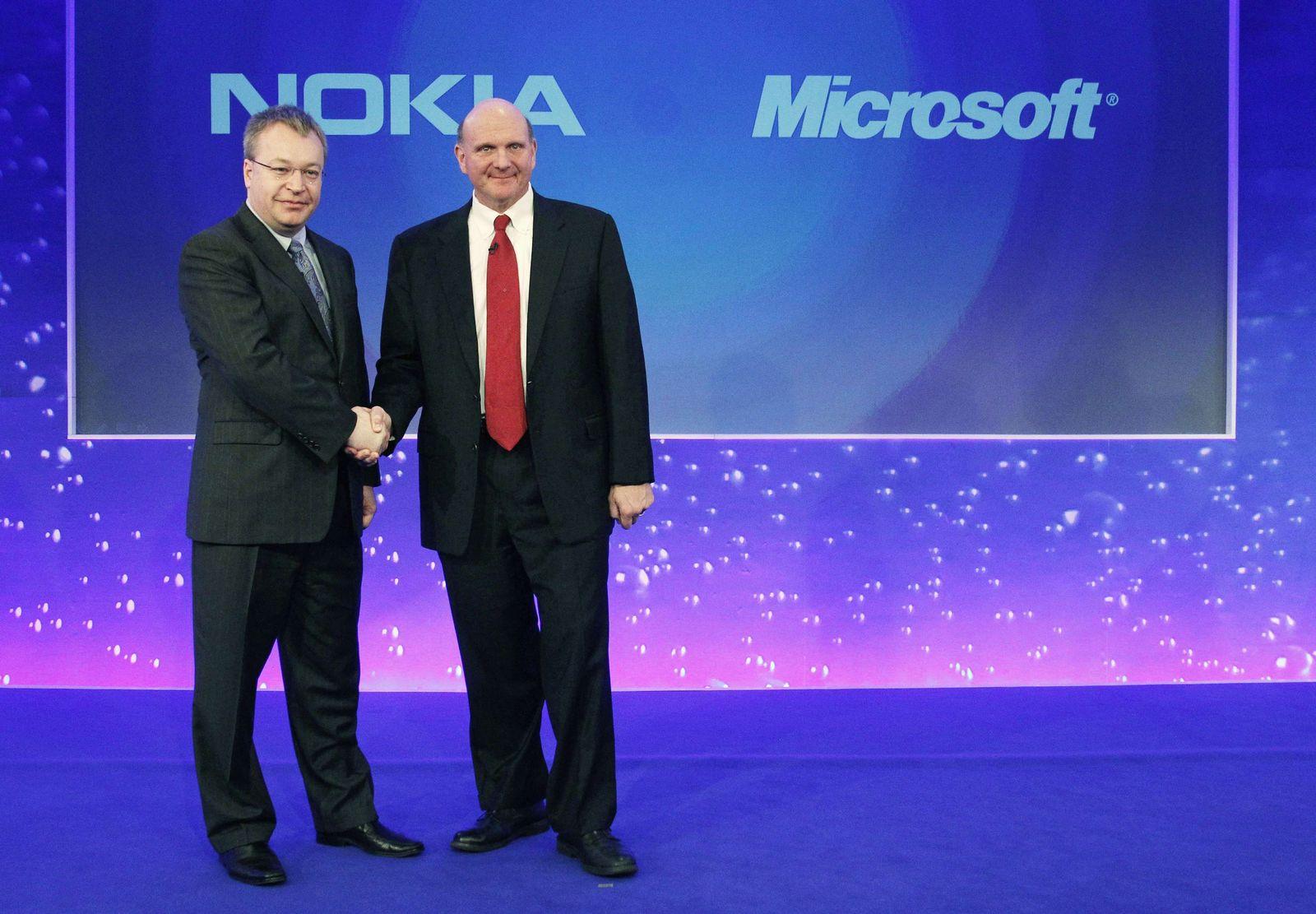 Microsoft Nokia Steve Ballmer Stephen Elop