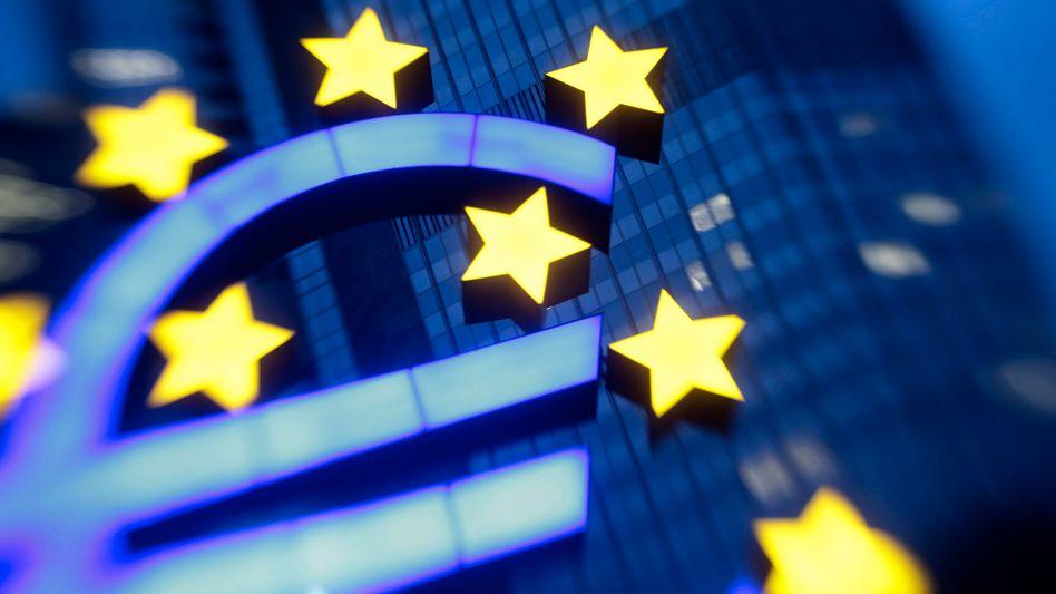 EZB-Zentrale in Frankfurt: Die Zentralbank senkte heute den Leitzins