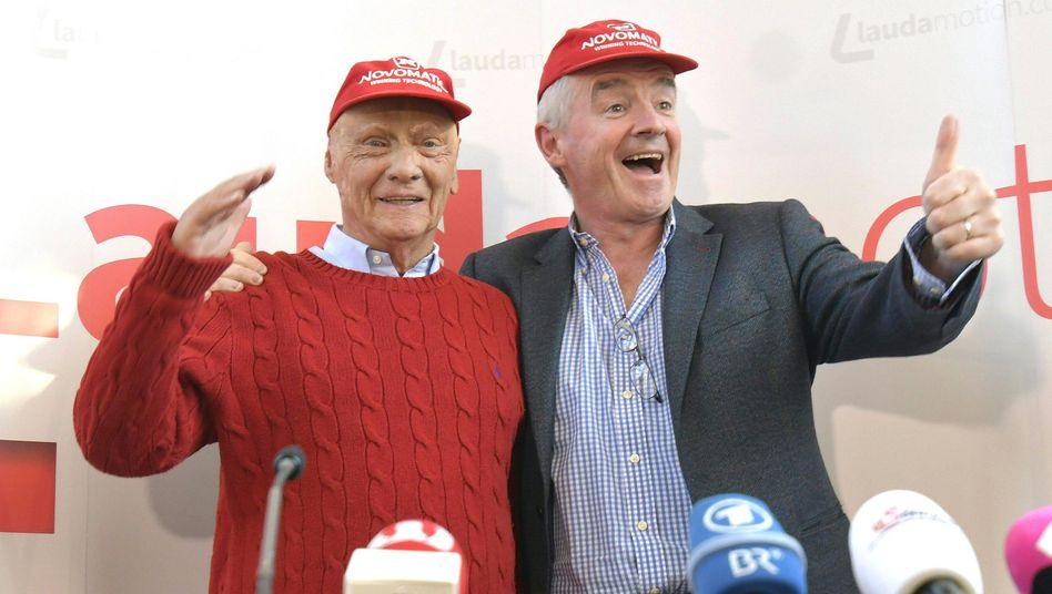 Die zwei sind sich einig: Laudamotion-Chef Niki Lauda und Ryanair-Vorsteher Michael OLeary