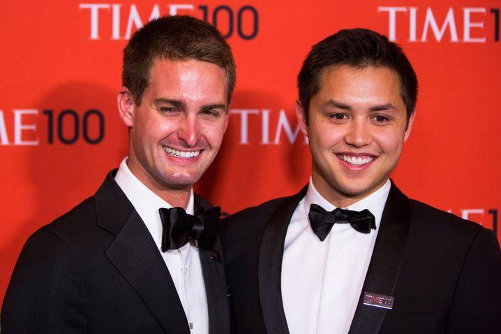 Gehören zu den jüngsten Selfmade-Milliardären der Welt: die Snapchat-Gründer Evan Spiegel (links) und Bobby Murphy