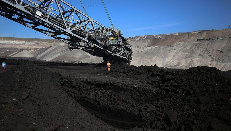 Tagebau bei Grevenbroich in Nordrhein-Westfalen