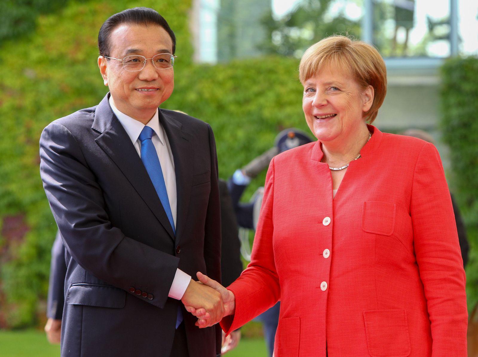Li Keqiang und Angela Merkel