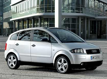 Auslaufmodell in Alu: Audi A2