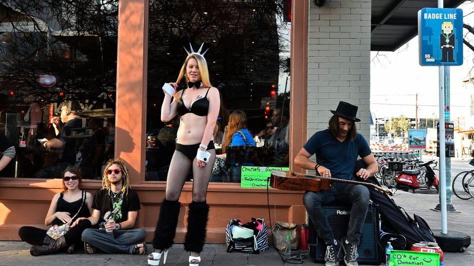Straßenmusiker beim Festival South by Southwest in Austin: Texas ist nicht mehr so konservativ wie früher