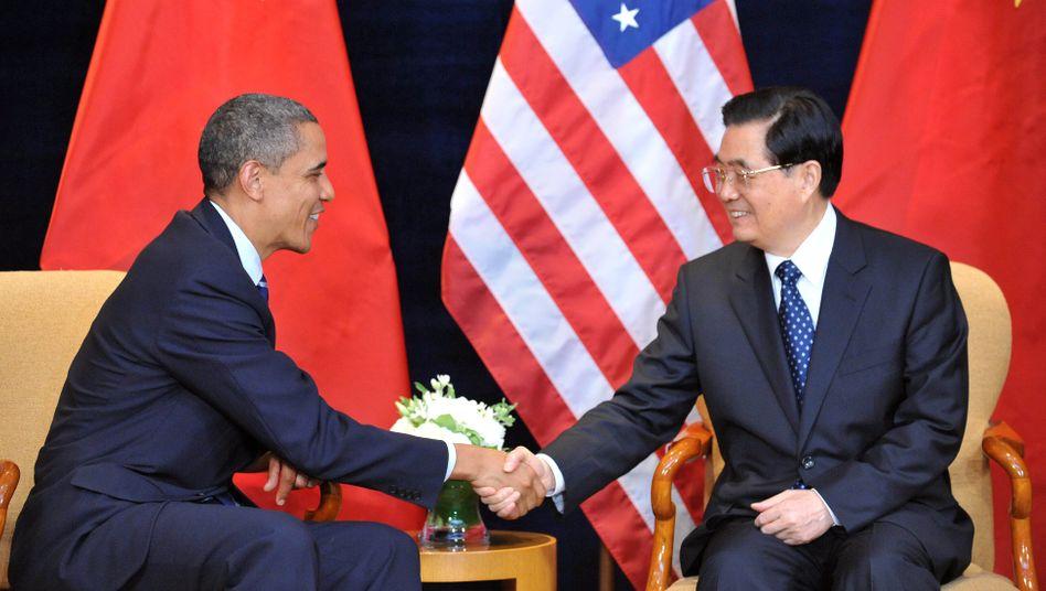 US-Präsident Barack Obama, Chinas Staatspräsident Hu Jintao: Erstes Treffen auf Augenhöhe