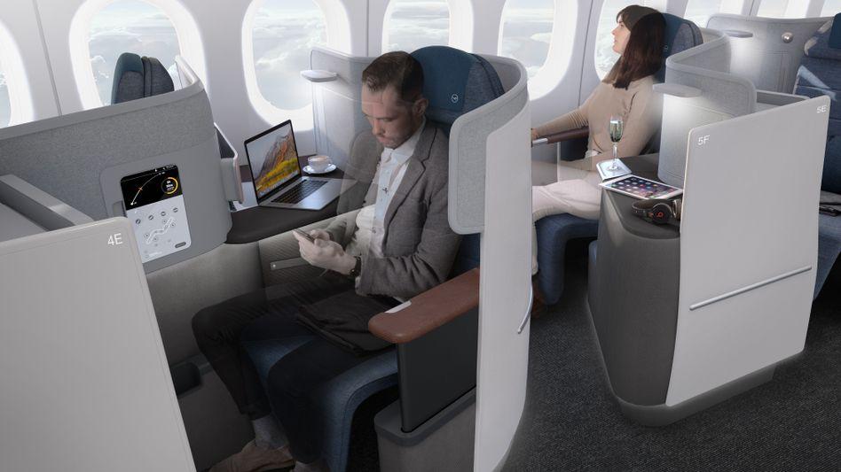 Die Kabine in der Kabine: So sieht die neue Business Class der Lufthansa aus, die 2020 zum Fliegen kommen soll