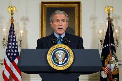 Neuer Versuch: US-Präsident Bush übte sich nach der Blamage vom Vortag in Schadensbegrenzung