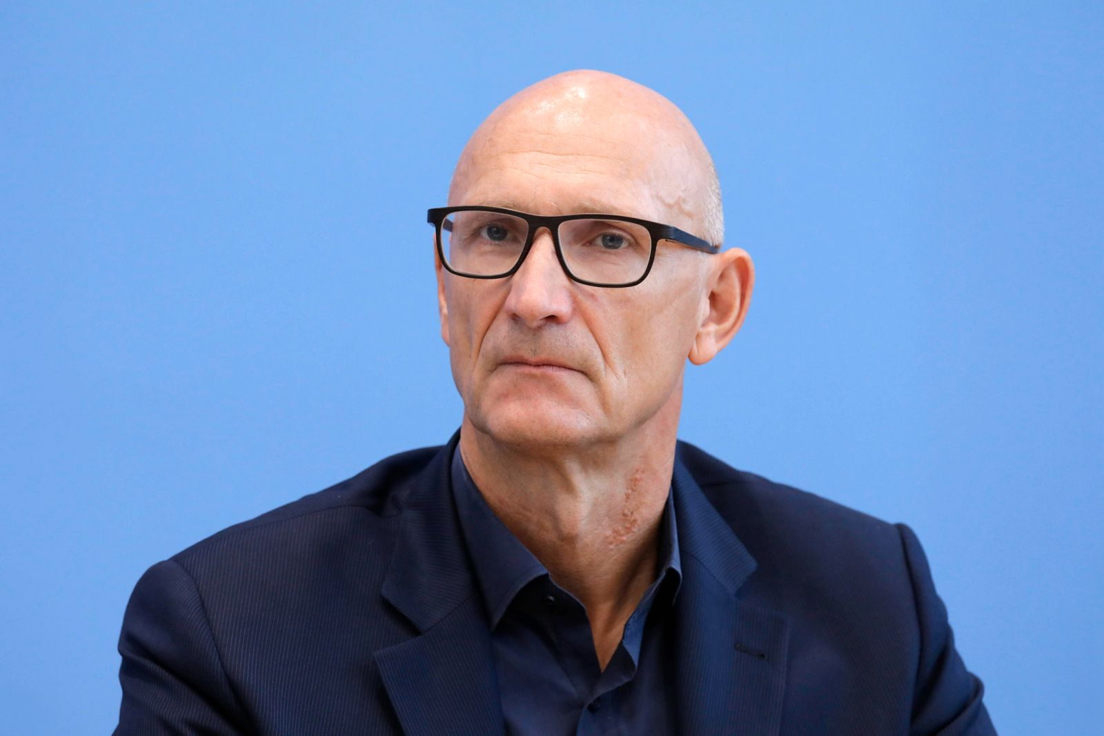 Tim Hoettges, Vorsitzender des Vorstandes der Deutschen Telekom, PK zu - 100 Tage Corona-Warn-App, DEU, Berlin, 23.09.2