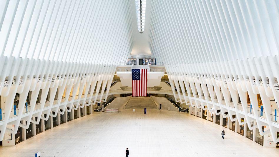 Große Leere: Das World Trade Center in New York inmitten der Pandemie.
