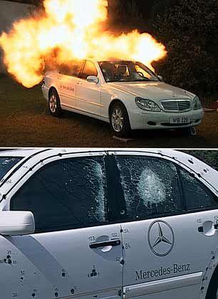 Schutz vor Feuer: Mercedes-Benz Guard im Test