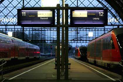 Hauptbahnhof Dresden: Ab Montag drohen erneute Streiks im Nah- und Regionalverkehr