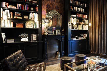 Lounge-Atmosphäre: Bibliothek im George