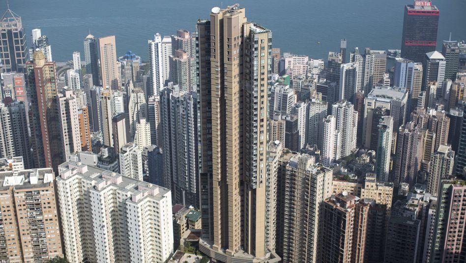 Hochhäuser in der südostasiatischen Metropole Hongkong