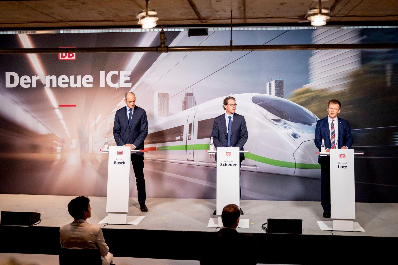 Pressekonferenz zu Milliardeninvestitionen in ICE-Flotte