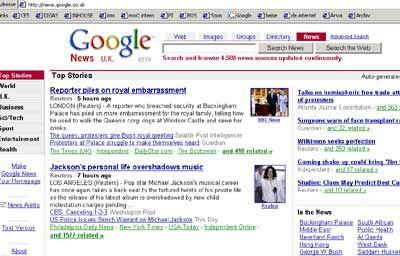 Konkurrenz für die etablierten Medien: Google News