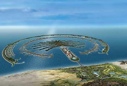 Nicht für jeden bezahlbar: Künstliche Inselanlage vor Dubai