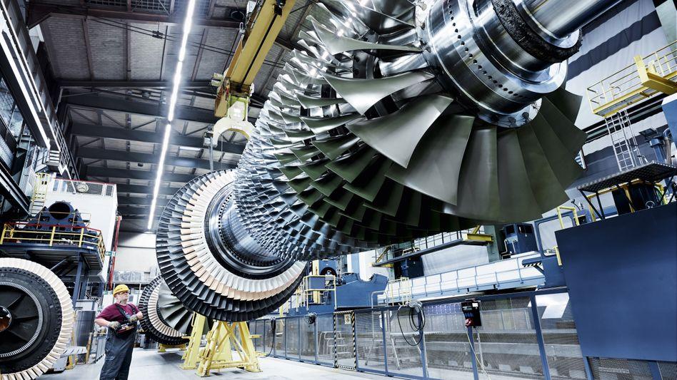 General Electric stellt sein Geschäft mit großen Gasturbinen - hier ein Exemplar von Siemens - offenbar zum Verkauf