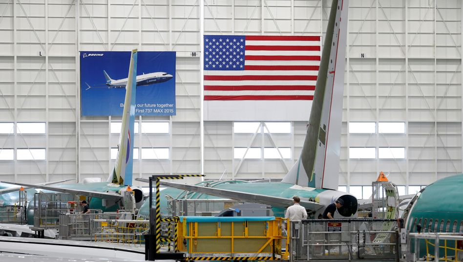 Produktion der 737 Max im Boeing-Werk Renton, US-Staat Washington